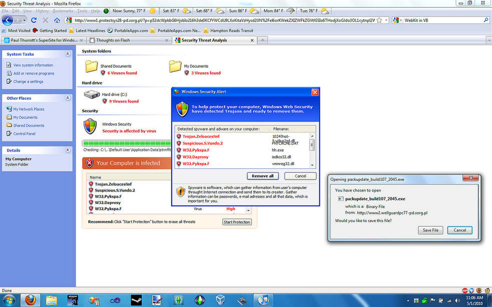 Fake Antivirus Example