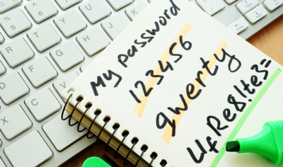 Keyboard notepad passwords